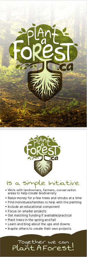 Post card explaining Plant A Forest